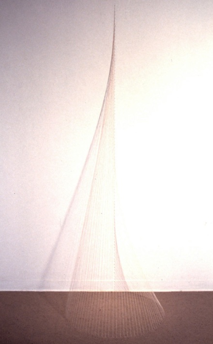 string sculpture expressing the shape of c=h